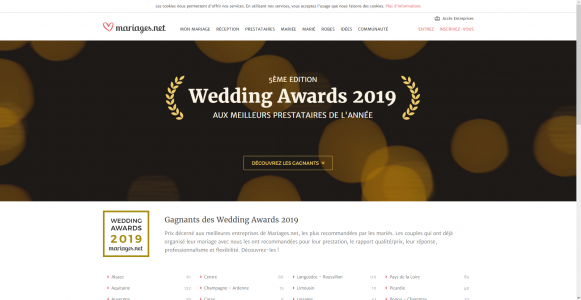 liste Wedding Awards 2019